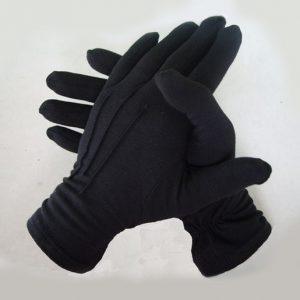 Перчатки из хлопка мужские черные