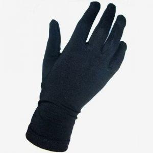 Перчатки из хлопка женские черные