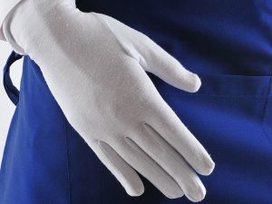 Перчатки из хлопка женские белые