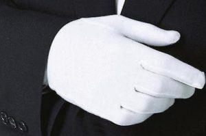 Перчатки из хлопка мужские белые